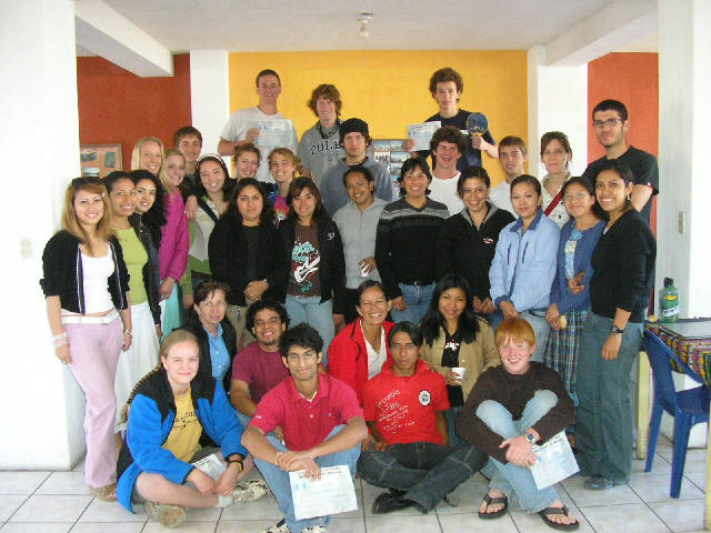 Dynamic students from the USA at Guatemalensis Spanish School