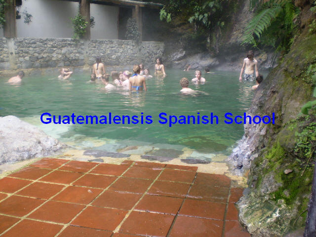 Relax in the paradisiac hot springs Fuentes Georginas nested in the cloudy mountains of the western highland of Guatemala