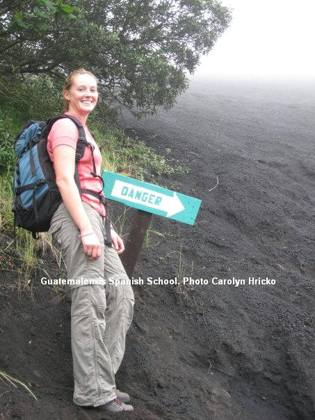 To climb the Pacaya volcano is very easy.