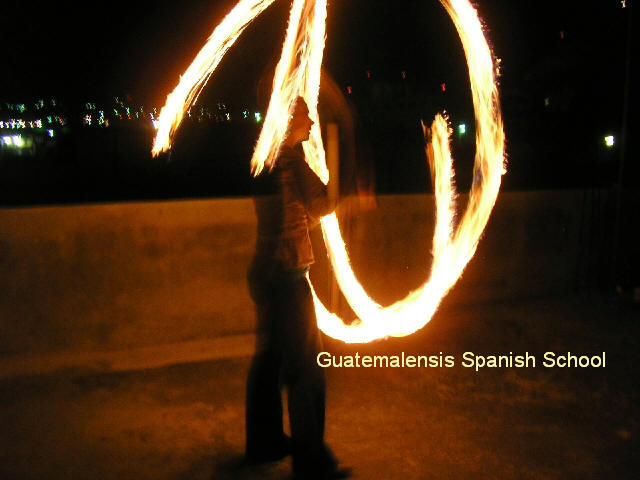 Playing with fire at Guatemalensis Spanish School