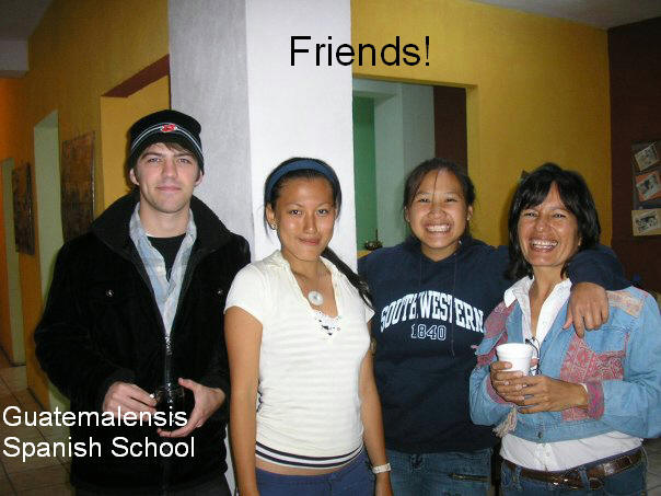 Students from Viet Nam at Guatemalensis Spanish School sharing conversations