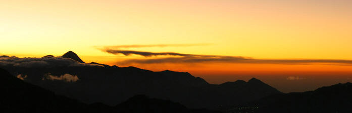 Sunrise view from the top of a volcano. Come to practice the photography with us and get the best pictures of your life.