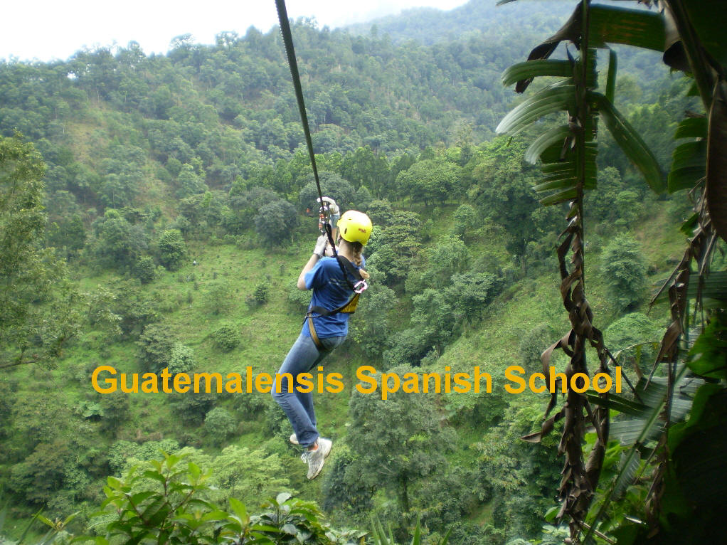 Zip line with Guatemalensis Spanish School