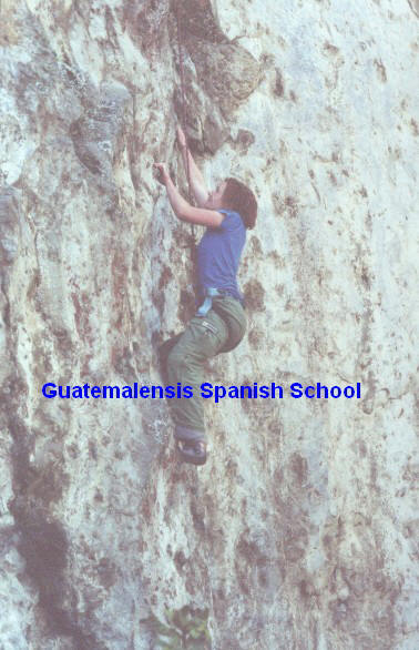 Rock climbing with Guatemalensis Spanish School