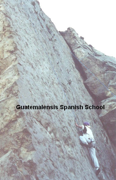The unique spanish school with rock climbing into its program
