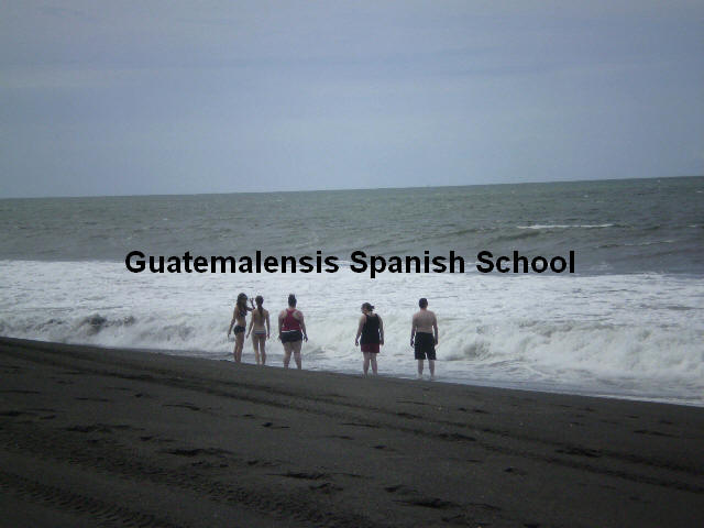 If you are enrolled at Guatemalensis Spanish School, then you will have the opportunity to enjoy the beautiful black sand beaches of our pacific coast.