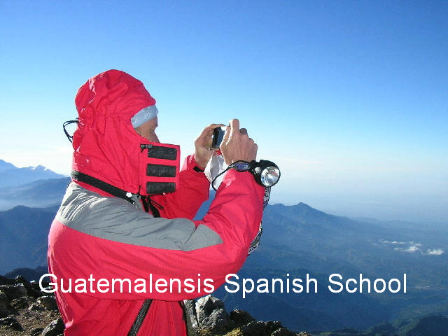 Summit of the Tajumulco volcano challenging to all our students.